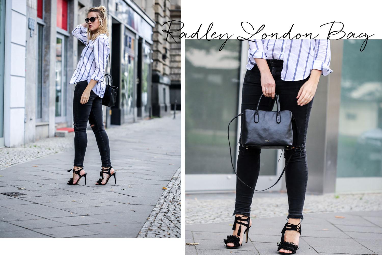 BLACK BAG & BLUE STRIPES