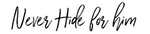 Otto Kern Never Hide_HIM
