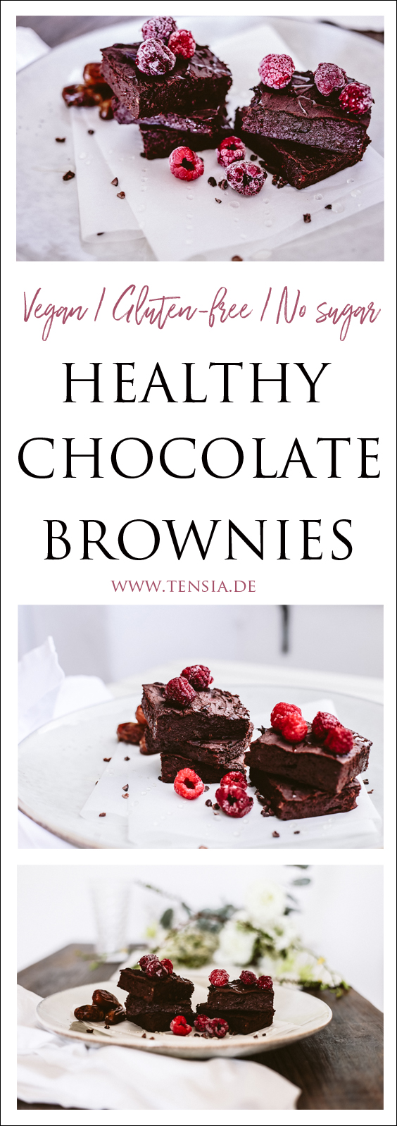glutenfreie Brownies // Healthy Chocolate Brownies