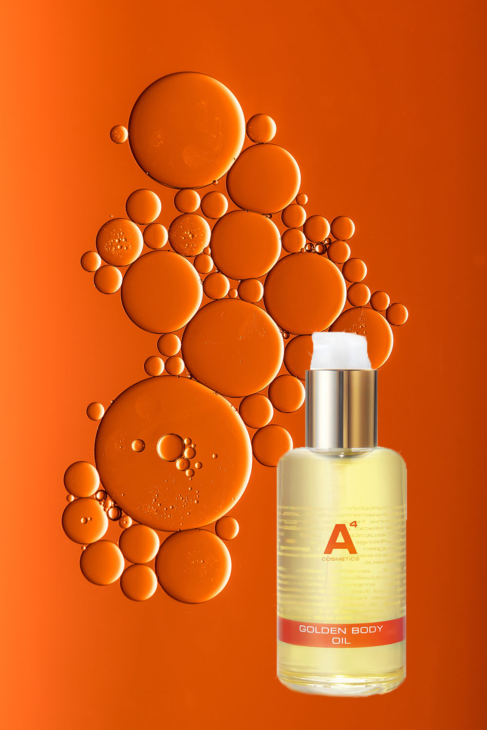 A4 Golden Body Oil